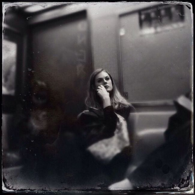What she thinking about? Blackandwhite Streetphotography Subway