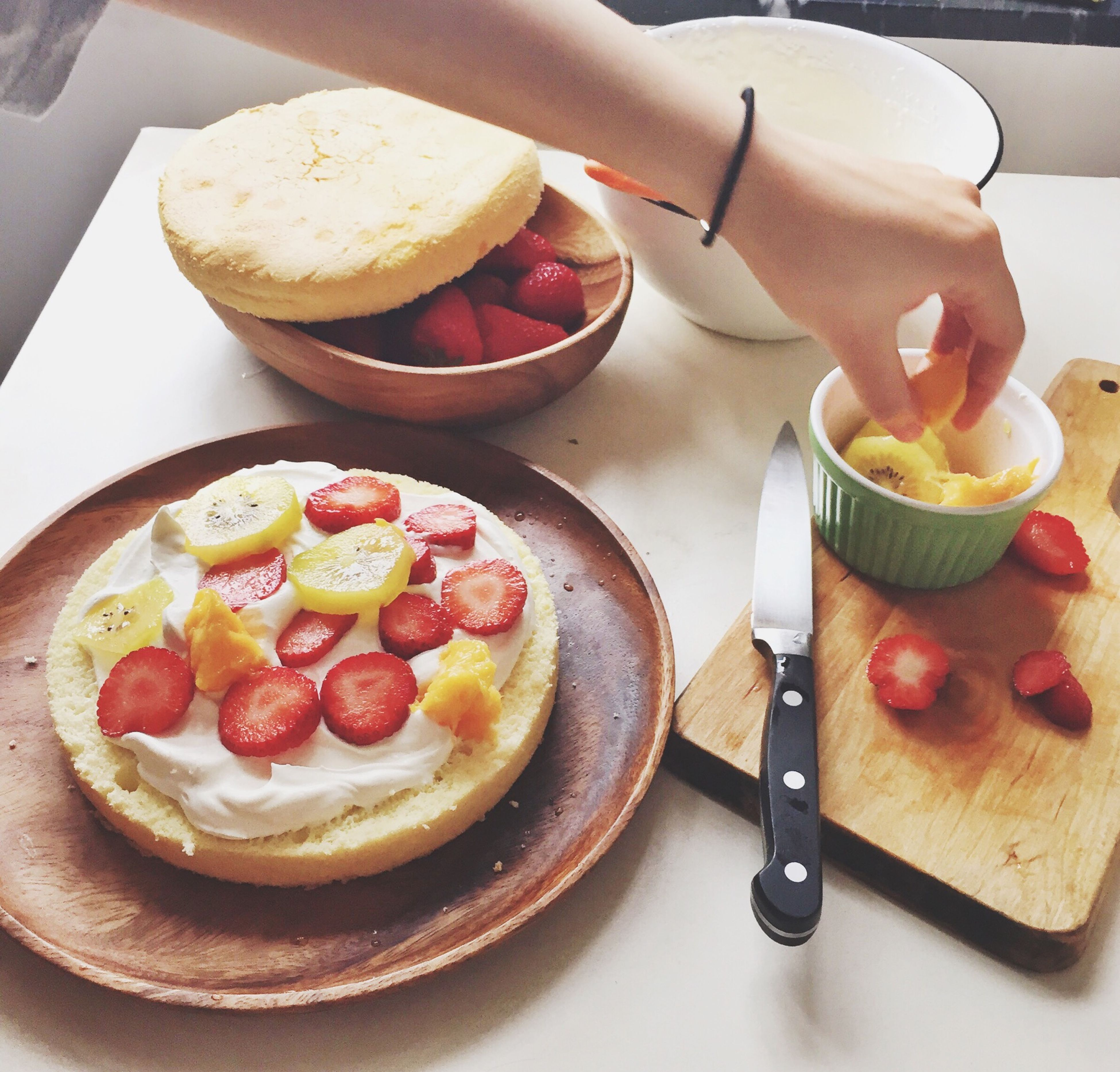 food and drink, food, freshness, ready-to-eat, indoors, sweet food, plate, indulgence, dessert, still life, unhealthy eating, strawberry, breakfast, fruit, serving size, temptation, cake, table, close-up, pancake