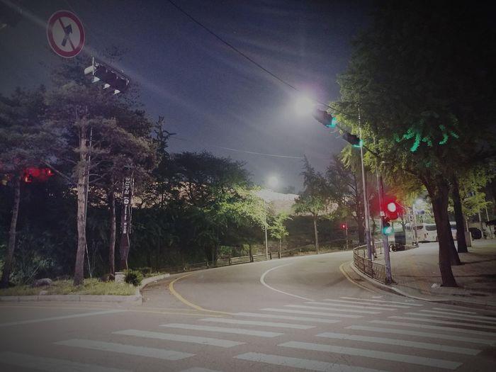 Night Illuminated Street Light Transportation Street Light Trail Outdoors Road No People Sky