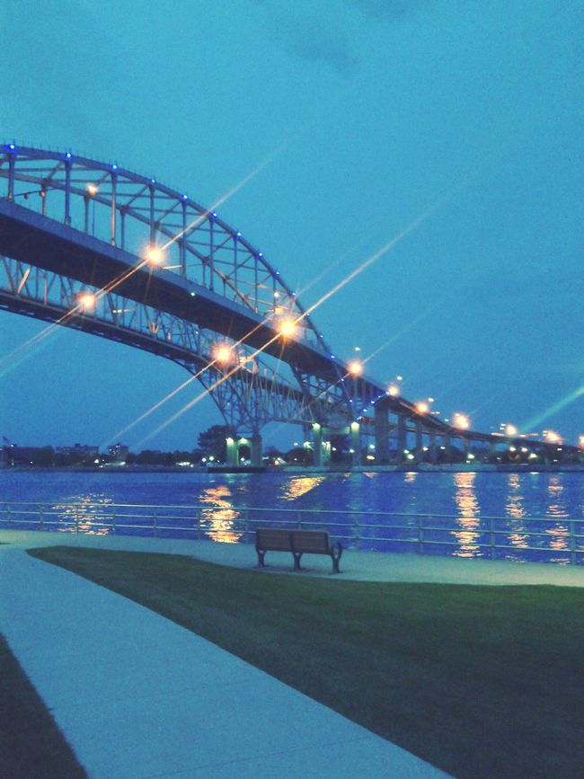 Poho Port Huron Bridge Blue Water Blue Water Bridge Michigan USA Canada Photography EyeEm Best Shots