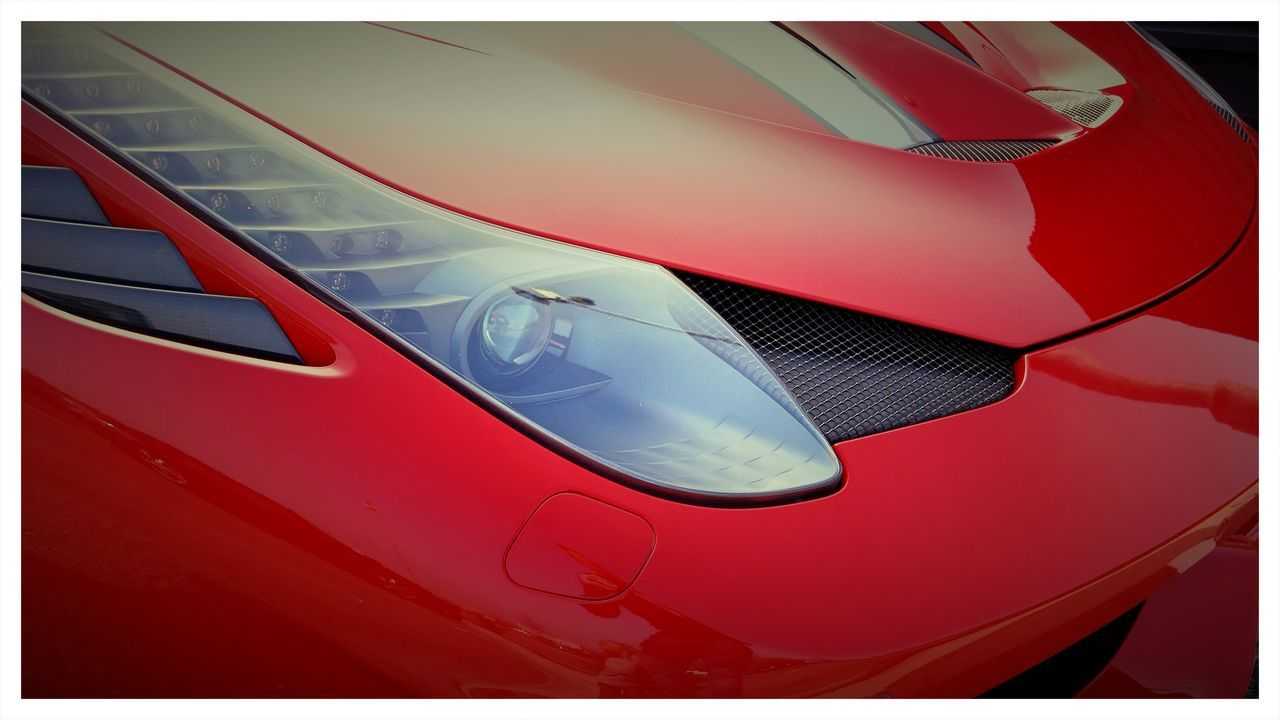 Close-Up Of Red Sports Car