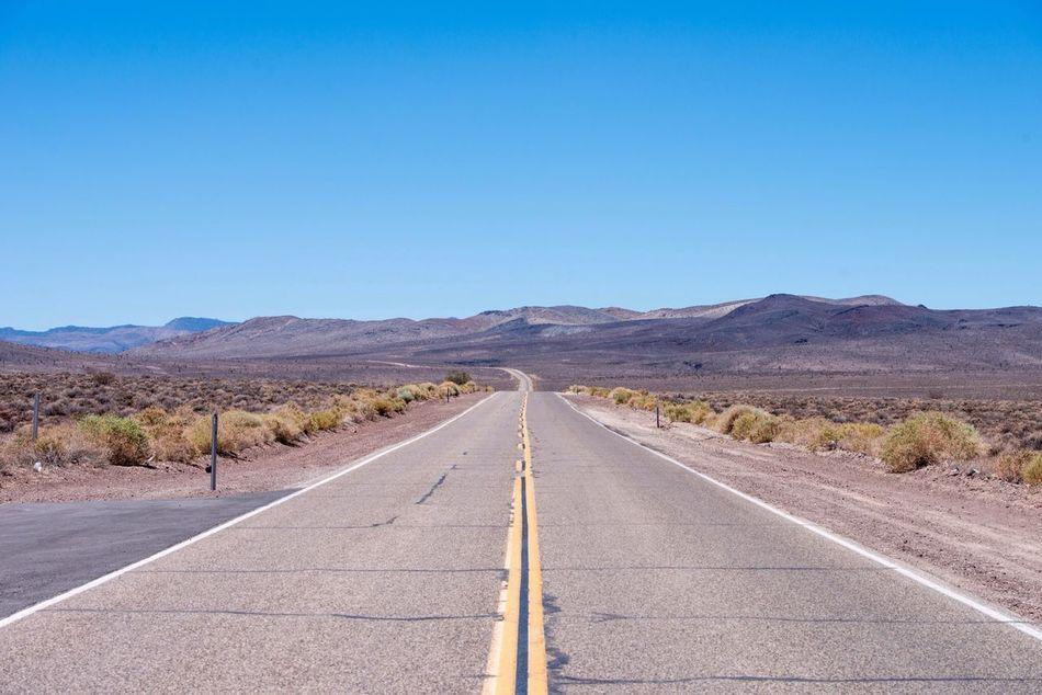 Beautiful stock photos of road, Arid Landscape, Barren, Clear Sky, Copy Space