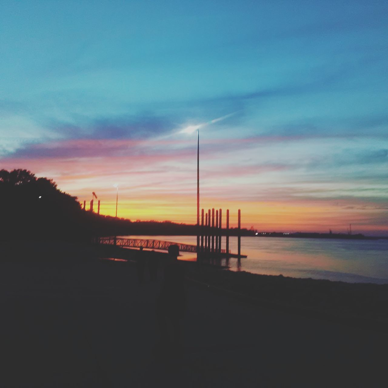 sunset, sky, sea, water, silhouette, nature, beach, scenics, cloud - sky, tranquil scene, tranquility, beauty in nature, outdoors, no people, horizon over water, day