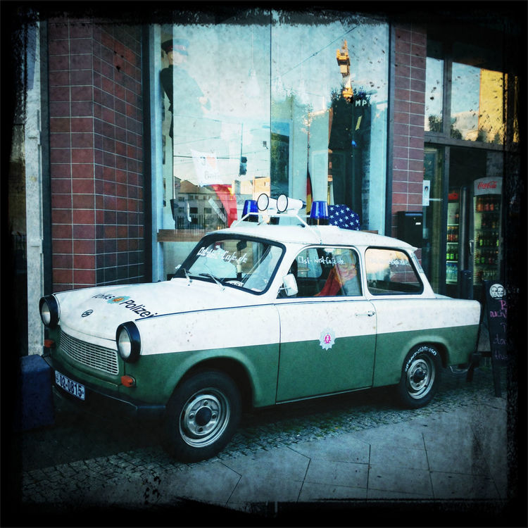 retro police cars in Berlin by Moog_t