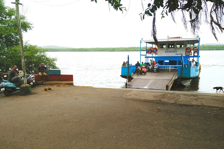 St. Pedro - Diwar ferry. Ferry Ferryboat Goa Goa India Goan Goanlife Lifestyle Goenkar Mandovi River Ferry Boat Ferry Passengers Ferry Crossing Ferry Port Seaways Waterways Travel Travel Photography Street Photography Tourist Attraction  Tourism Goa Tourism Transport Transportation View