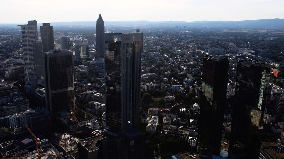 City Cityscape Architecture Skyscraper Building Exterior Tower Urban Skyline Built Structure Modern Travel Destinations Outdoors Crowded Aerial View City Life Sky Day Downtown District Frankfurt Frankfurt Am Main Germany Skyline Skyline Frankfurt Office Building Travel Photography Traveling