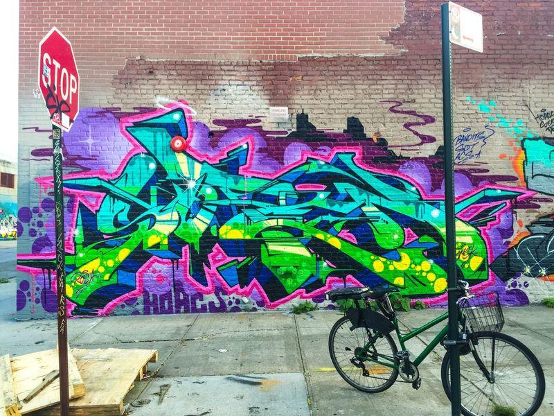 Graffiti Street Art Multi Colored Day City Wall Art Calle Viajar Trip Aroundtheworld New York USA Spray Streetart Blue Memories Brooklyn Bushwick Old-school
