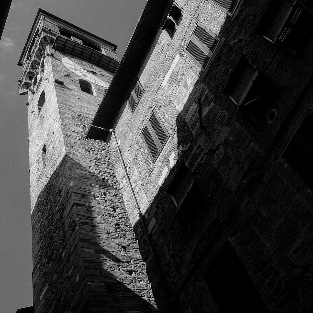 Architecture Built Structure Low Angle View Building Exterior History Brick Wall No People Old Ruin Day Outdoors Sky Lucca Tuscany Toscana Clock Tower Architecture FUJIFILM X-T1 Fujifilm_xseries Fujifilm Fuji X-T1