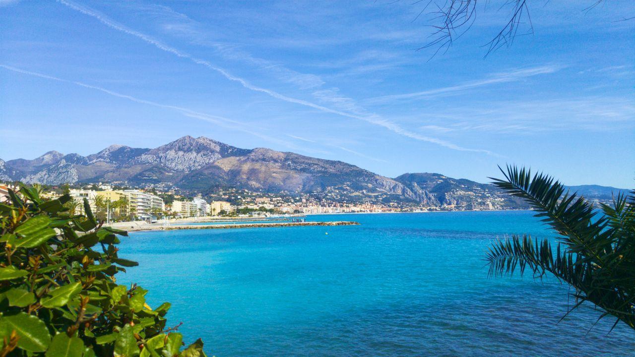 Riviera. France Monaco Travel Destinations Landscape Mountain Sea No People Photography EyeEmNewHere The Great Outdoors - 2017 EyeEm Awards Neighborhood Map