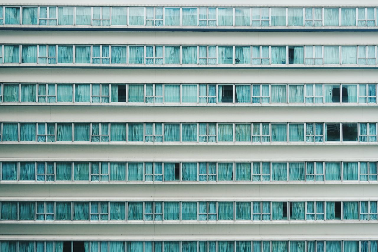 No People Backgrounds Architecture Hotel Windows Apartment Block Horizontal Curtains