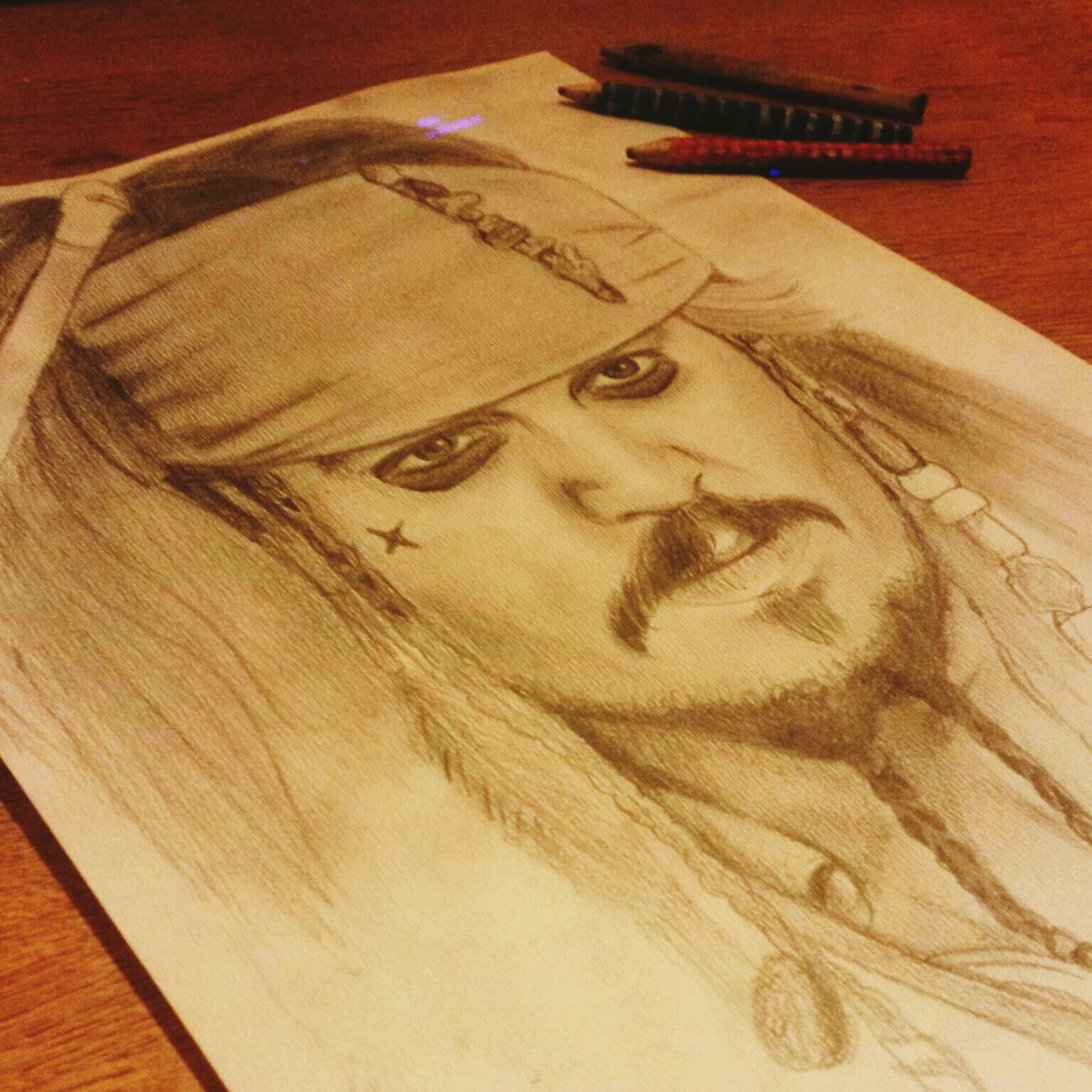 Drawing Captain Jack Sparrow Johnny Depp My Draw ♥