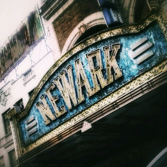 Front of old Paramont Theater, Newark, New Jersey Newark Nj  SignSignEverywhereASign AMPt - Abandon Cities