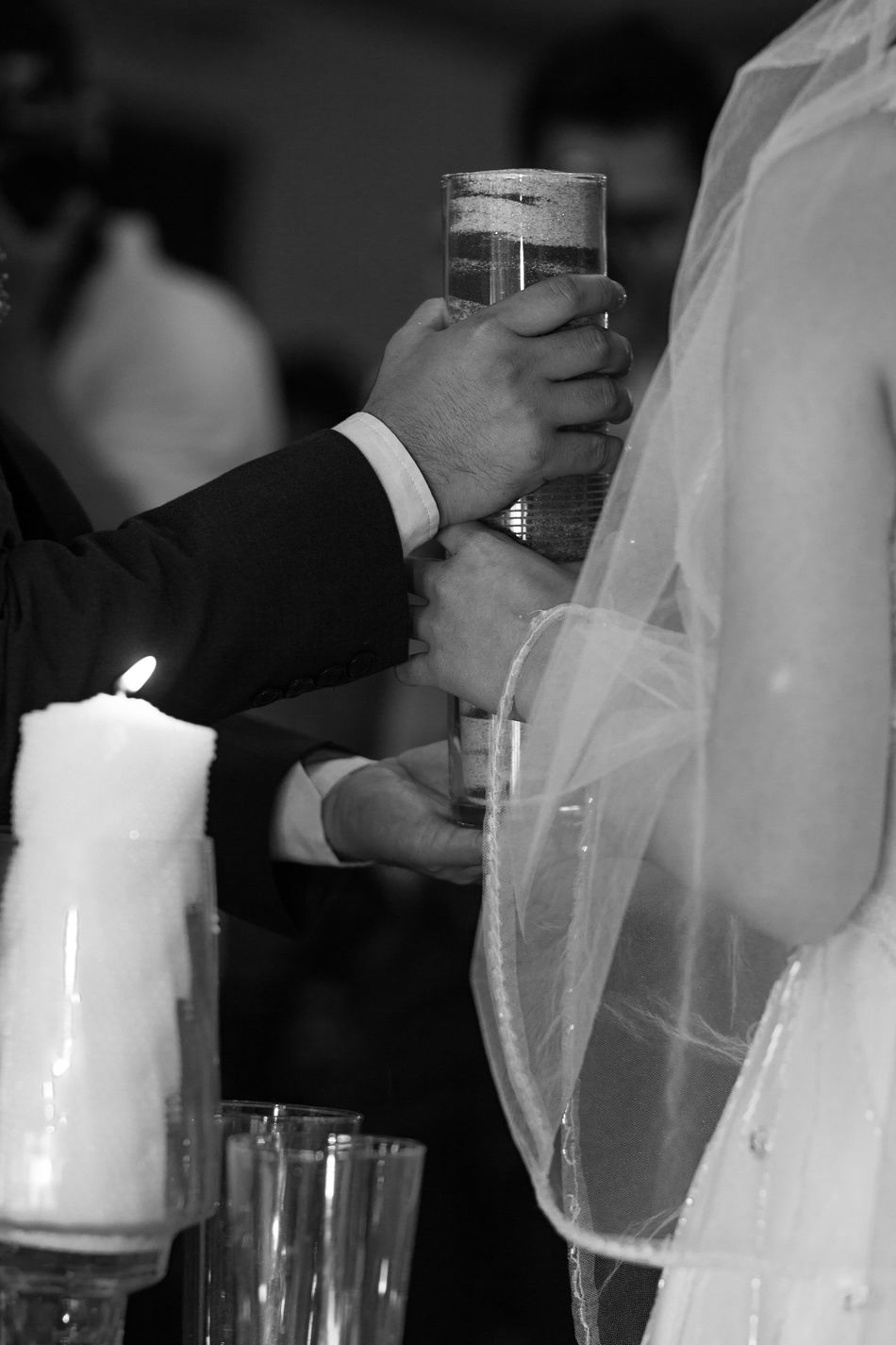 Bride Bridegroom Celebration Ceremony Close-up Day Focus On Foreground Groom Holding Human Body Part Human Hand Indoors  Men People Real People Togetherness Two People Wedding