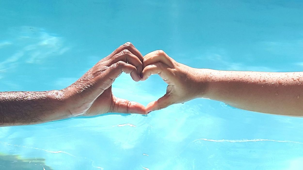The Human Condition Love Is In The Air Love ♥ Faithhopelove At The Pool The Week On EyeEm