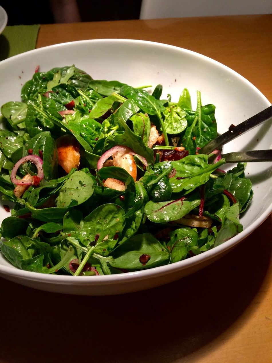 Omnomnom Ottolenghi Baby Spinach Salad With Dates & Almonds