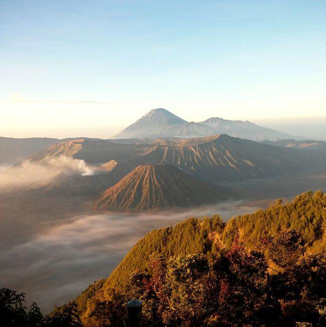 Trilogy Mount Semeru Mount Bromo Mount Batok Mountains And Sky Sunrise Morning Sky Morning Light Wonderful Indonesia INDONESIA Landscape
