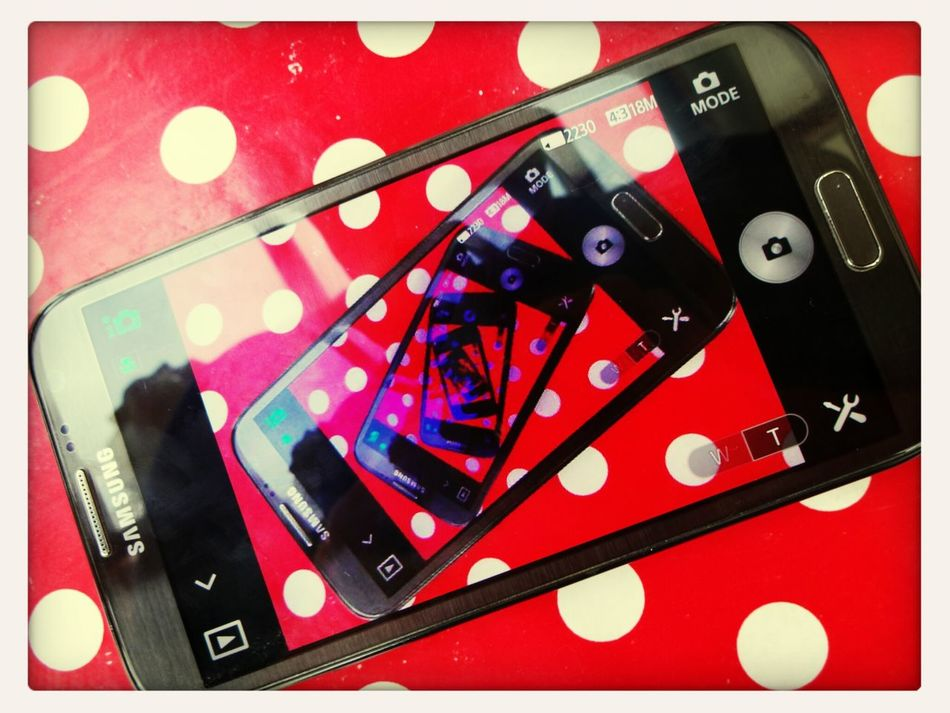 my Samsung Galaxy Note II Pointes Art with a Sonydsc