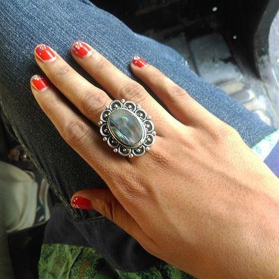 Abalone Ring Bali Sunset jewelry nailart ?