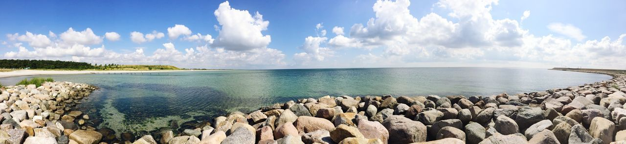 sky, cloud - sky, sea, scenics, beauty in nature, nature, day, tranquil scene, tranquility, water, horizon over water, outdoors, no people, beach, panoramic