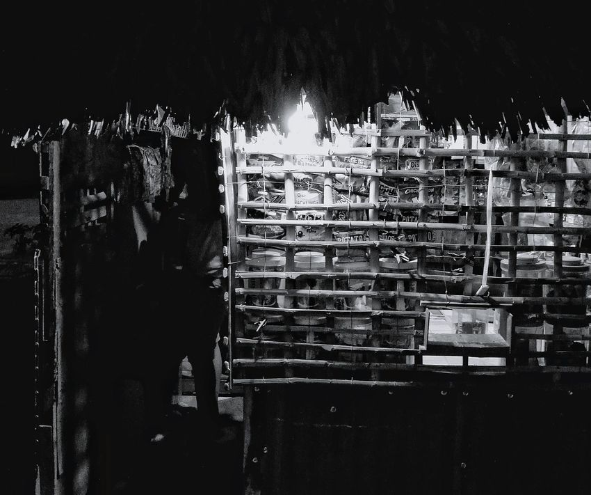 Sari-sari store at night Nightshot Monochrome Photography Orientalmindoro Travel Photography Nightstreetphotography Philippines