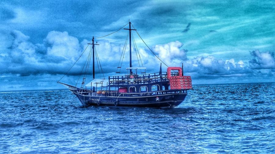 Pirate ship View Pirate Ship Pirate Sky Sea And Sky Sea Portoseguro Passareladoalcool No People Nature Cloud - Sky Water Day