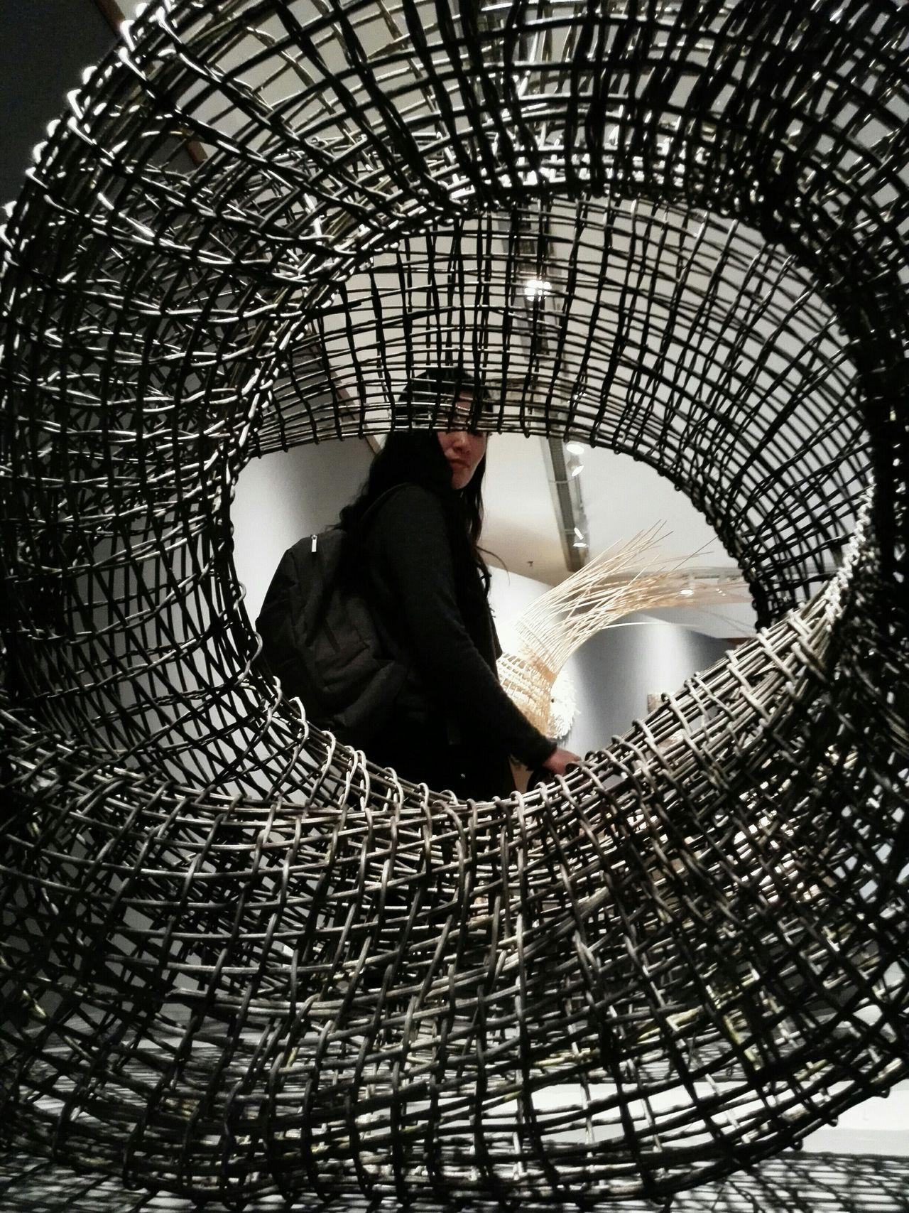 Spiral Mesh Crosshatching Wickerart Centered Middlefocus Twisted Woven Art Museum