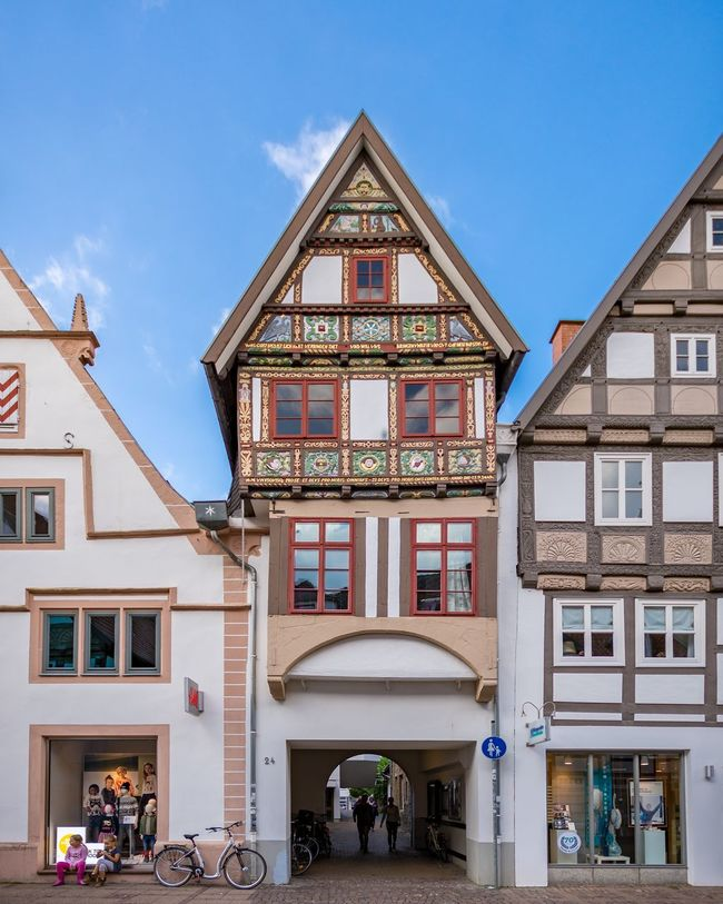 Beautiful old house in Lemgo. Lemgo Architecture House Building Travel Germany Old Historic Altstadt Fachwerkhaus Photography Nikon Nikonphotography Nikon D7200 D7200 Architecture_collection Vacation Urlaub Holiday