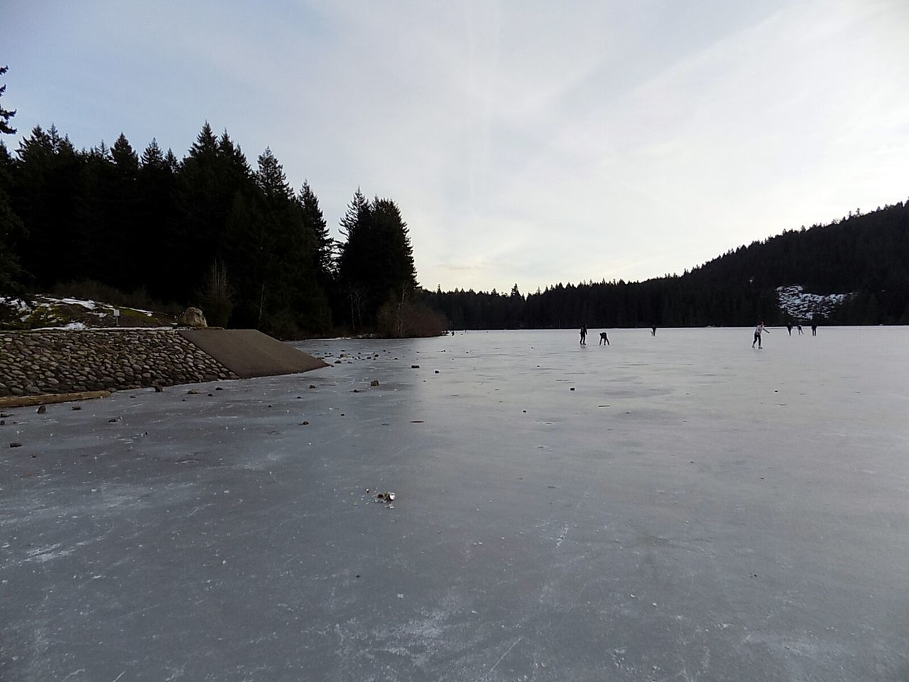 Tree Water Sky Nature Cold Temperature Outdoors No People Landscape Natural Parkland Day Skating ✌ 2017 Year Vancouver Island Canada Frozen Lake Warm Clothing Ice Hockey Winter Sport