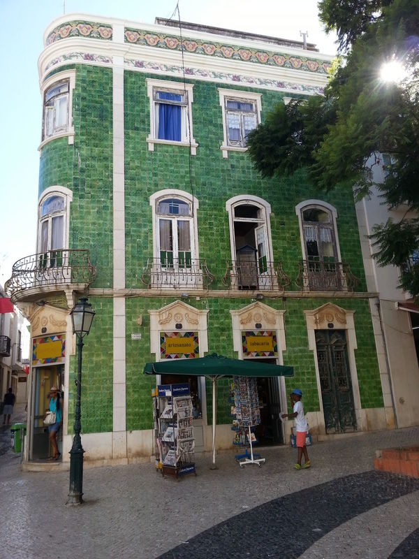 People Portugal Summertime Architecture Old Buildings Green House Street Photography Streetphotography Holiday Vacation Vintage House Travel Still Life People And Places