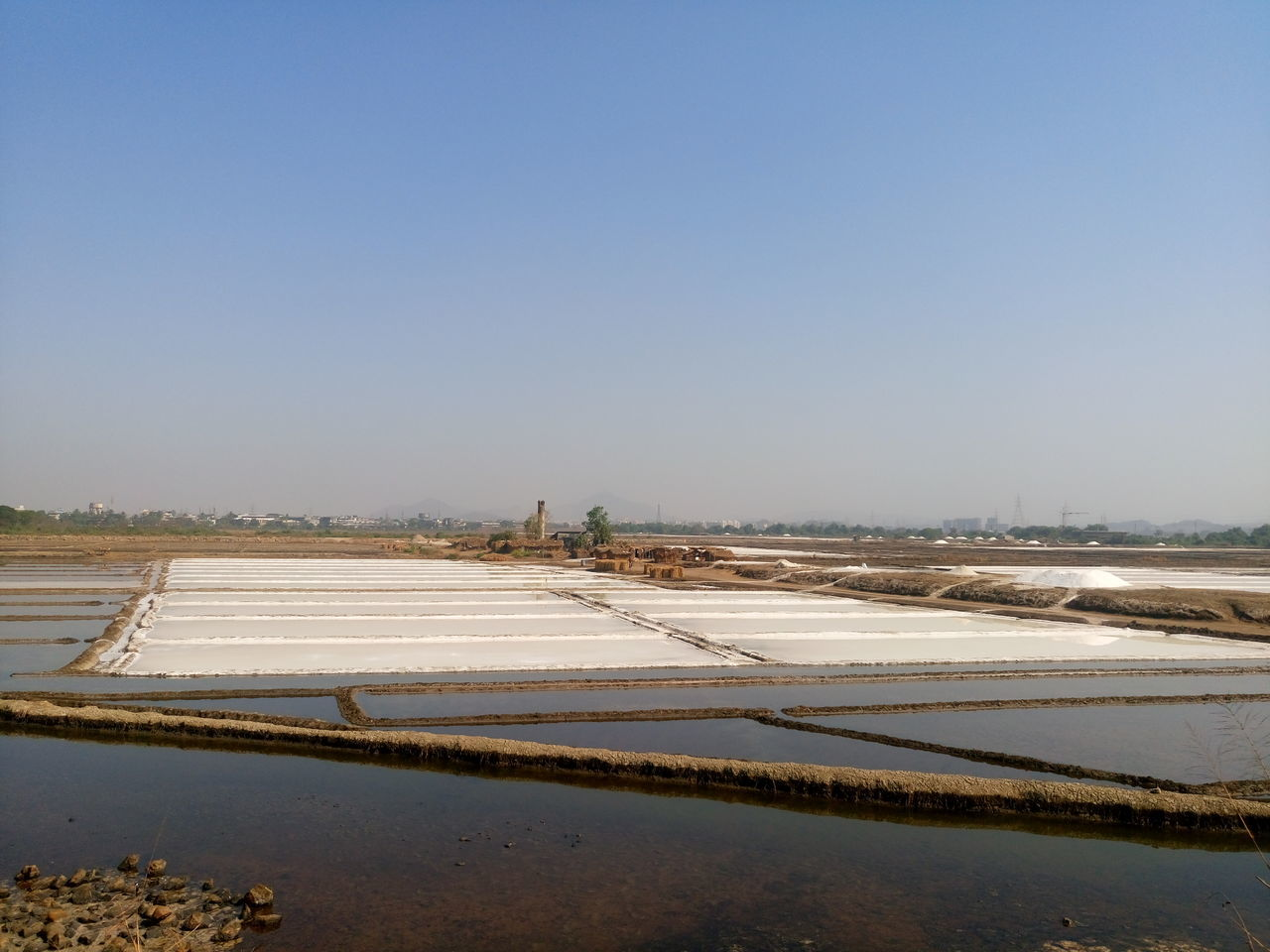 Agriculture Beauty In Nature Clear Sky Day Landscape Nature No People Outdoors Salt - Mineral Salt Basin Salt Flat Snow Water Winter