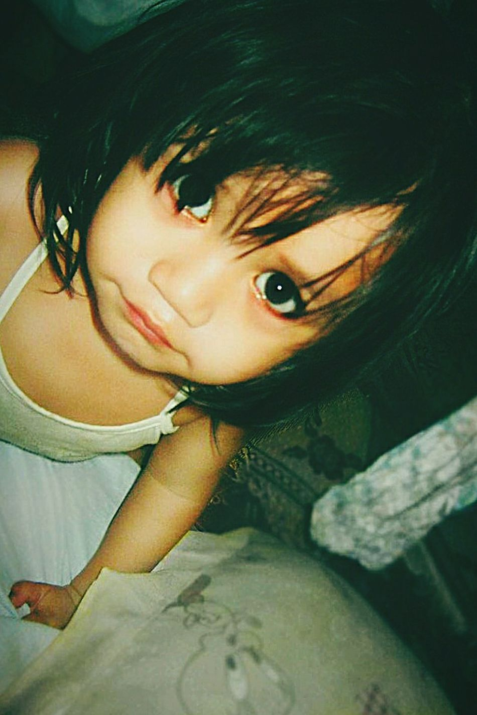 Big Eyes Innocence My Beautiful Niece ♥ I Miss Her :(  Saturatedcolors