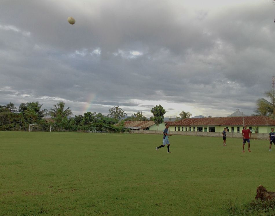 RePicture Learning Rainbow Football Training Taking Photos