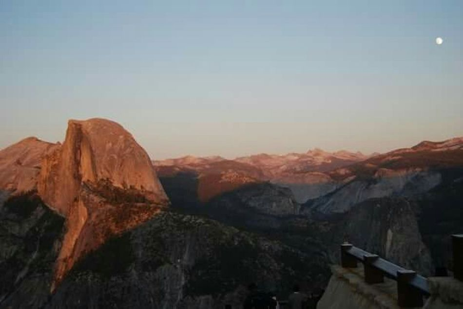 alpine sunset at Half dome Half Dome California Yosemite National Park Beautiful Sunset Alpine Sunset