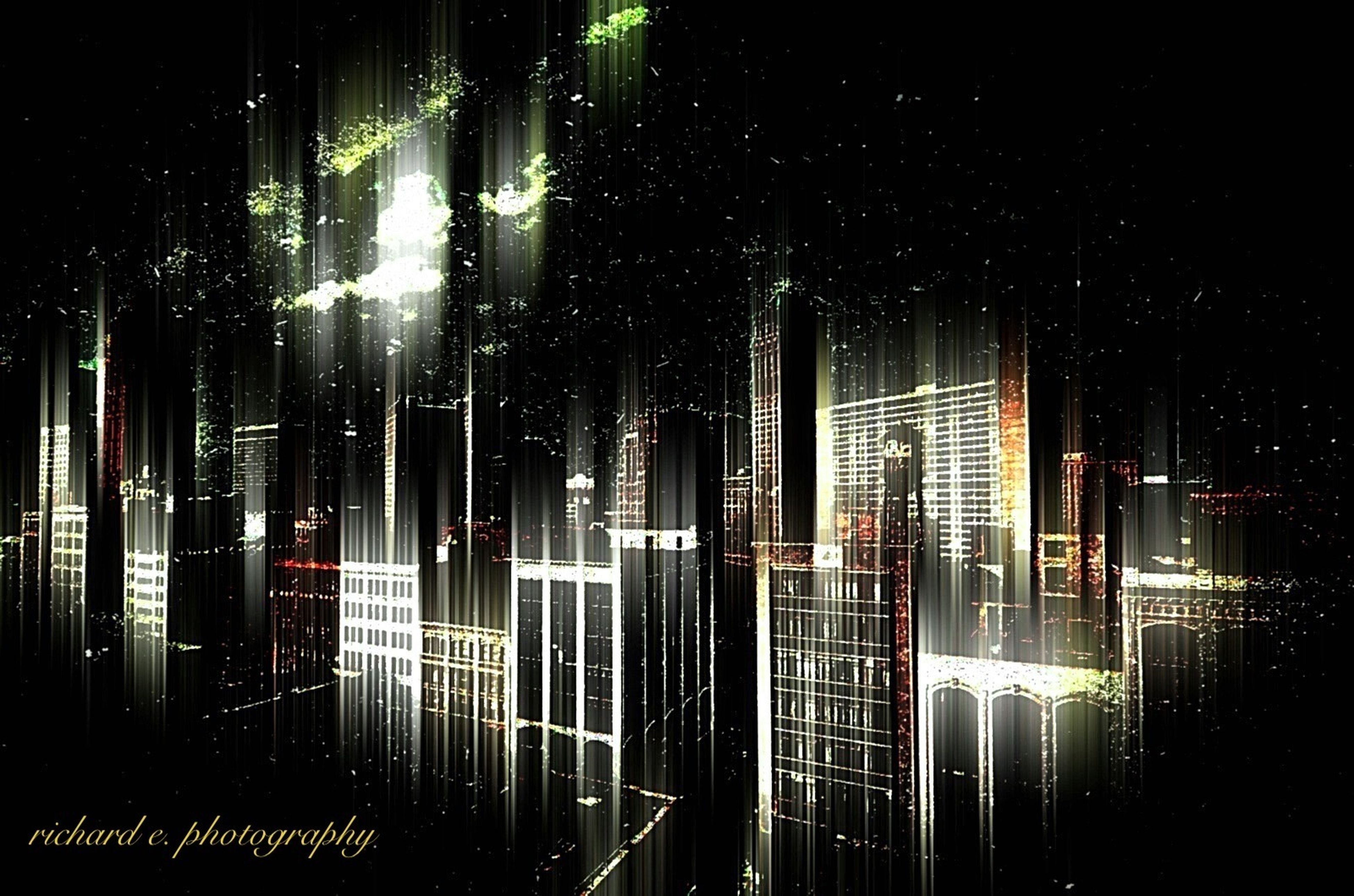 night, illuminated, building exterior, architecture, city, built structure, skyscraper, office building, building, modern, window, low angle view, tall - high, no people, outdoors, sky, lighting equipment, light - natural phenomenon, tower, glass - material