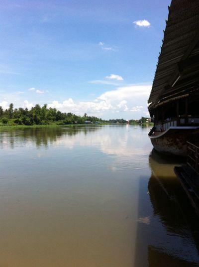 River-side Water Reflections Thailand Nakorn Phathom Taking Photos