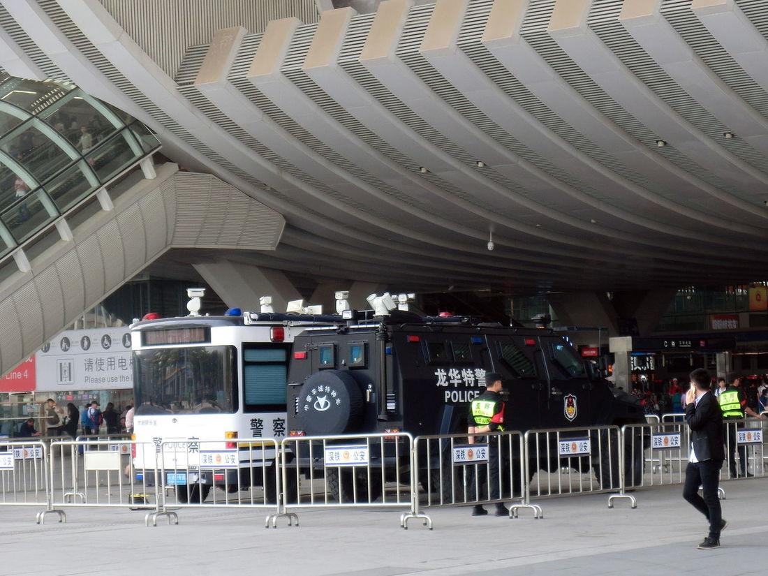 Police Vans Security Fences Police Post
