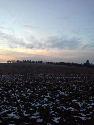 Sky Sunset Landscape Nature Cloud - Sky Scenics Beauty In Nature Snow Cold Temperature No People Winter Rural Scene Winter Sky