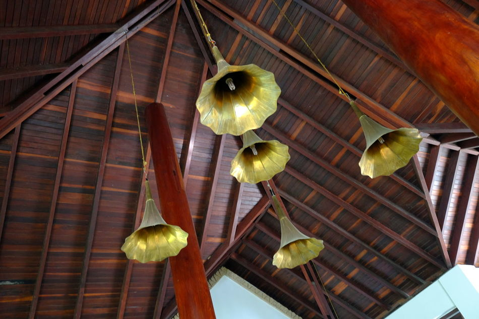 Flower Shaped Brass Light Fittings Brass Material Close-up Electrical Fixture Flower Shape Hotel Light Fixtures Low Angle View Myanmar Ngapali Ngapali Beach No People Unusal Stlyes Unusual