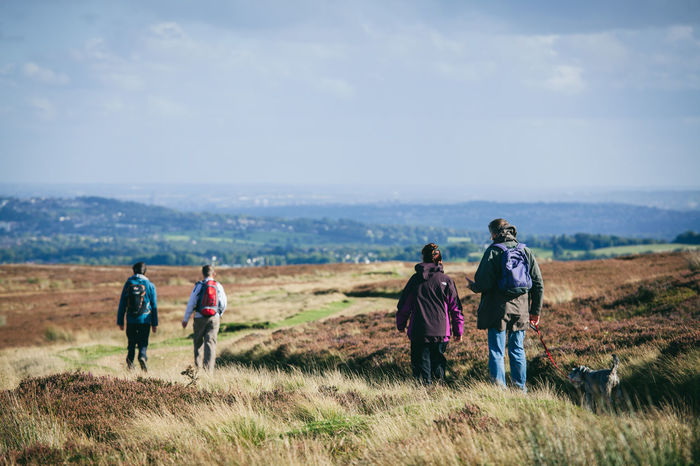 Activity Country Countryside Day Out Dog Walking England Exercise Fitness Fresh Air Healthy Heather Hiking Hills Landscape Moors Nature Otley Outdoors Path People Rambling Trail Walkers Walking Yorkshire