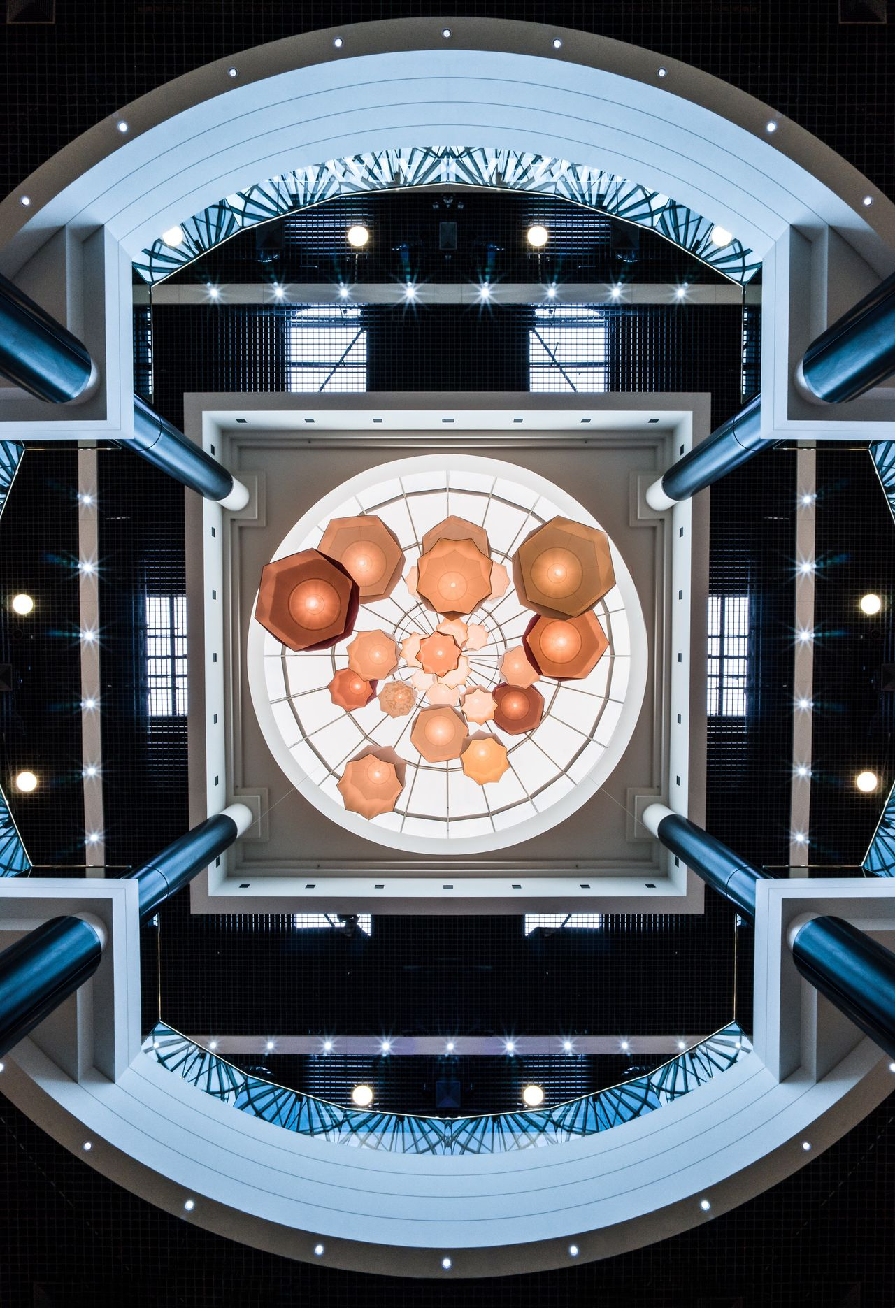 EyeEmBestPics EyeEm Best Shots The Week on EyeEm EyeEm Best Edits Architecture indoors Ceiling Ceiling Lights mall Montpellier polygone lookup
