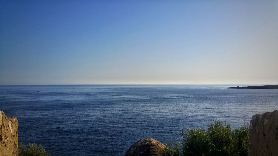 Quite Sea Sea Horizon Over Water Blue Water Scenics Beauty In Nature Clear Sky Tranquility Beach Sky Nature Tranquil Scene Outdoors Day No People Miles Away