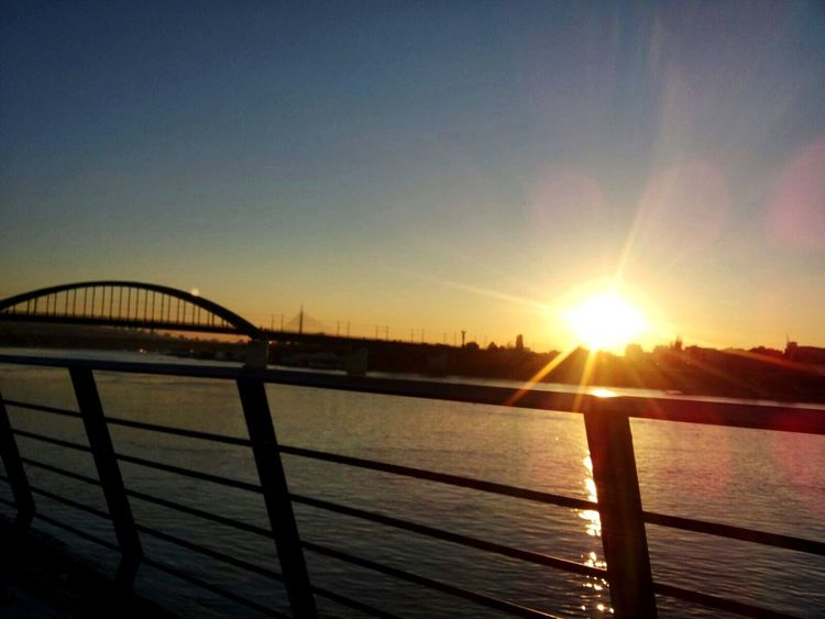 Sun Sunset Sunlight Water Nature Sky Beauty In Nature River Sava River Beograd 😌🙈