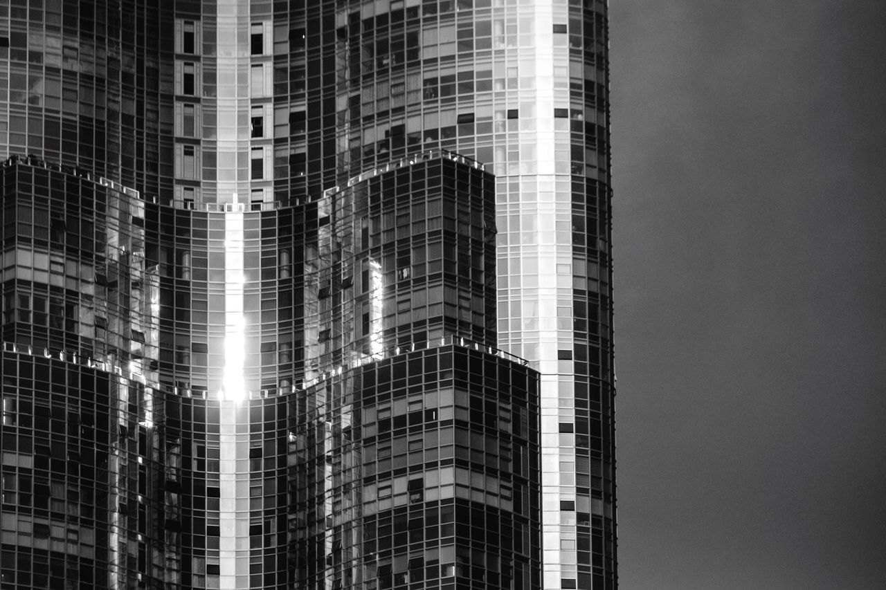 Camellia Architecture Built Structure Building Exterior Skyscraper Tall - High Modern Office Building Tower Outdoors Development Urban Skyline Glass - Material Curtain Walls Reflection Window Modern Architecture Busan Korea Haeundae Residential Building Pattern Geometric Shapes Exterior Monochrome Blackandwhite