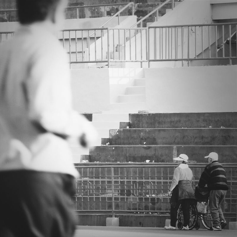 我會陪你(妳)到最後一刻  I will stay with you to the end of life Enjoying the View Taiwan enjoying life streetphoto_bw what i saw People watching streetphotography people blackandwhite by SCBeelzebub