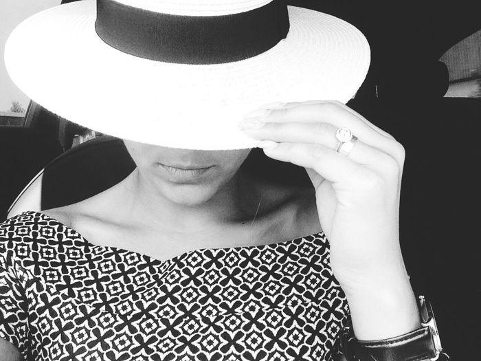 Hide. Woman hat Fashion