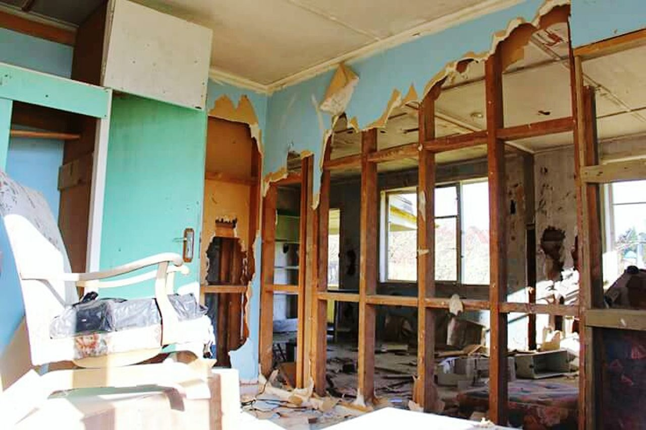 Abandoned Indoors  Home Interior No People Damaged Rotting Destruction Rubble Historical Site New Zealand Abandoned Places Abandoned & Derelict Derelict Abandoned House Rusty Destruction Run-down Old Ruin Wood - Material Domestic Room Rocking Chairs