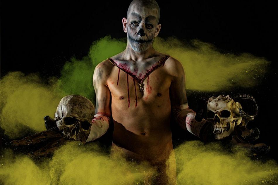 from hell Demon Fog Hello World Helloween Horror Monster Scary Shirtless Skull Spooky Studio