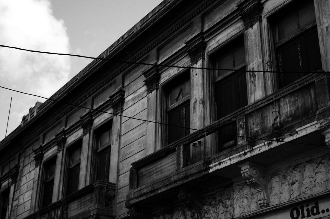 Architectural Detail Architectural Feature Architecture Balcony Black & White Black And White Building Exterior Built Structure City Deteriorated Deteriorated Structure Deteriorating Building Deterioration Fine Art Photography Low Angle View Old House Second Floor Still Life Street Photography Urban Urban Photography Western Guatemala Windows Black And White Friday