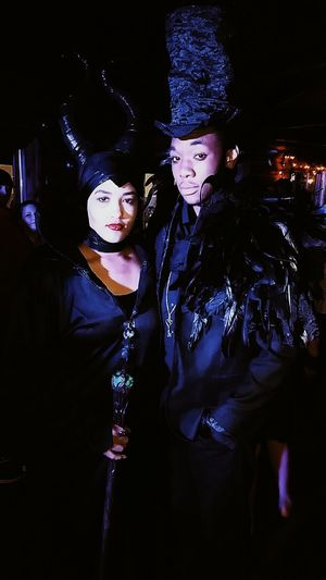 The Mistress of all Evil and her raven! Maleficent Halloween Costume Party Happyhalloween
