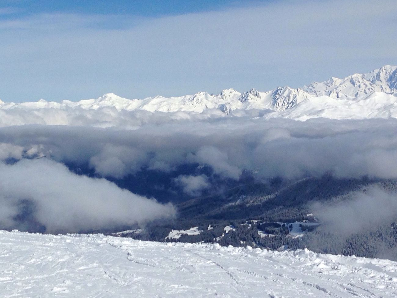 Above the cloud Clouds And Sky Clouds Mountains Snow Ski Snowboarding Blue Sky France Meribel 3vallées 3 Valleys